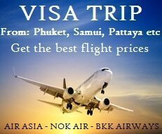 Visa Trip Flights from Phuket, Thailand and Asia